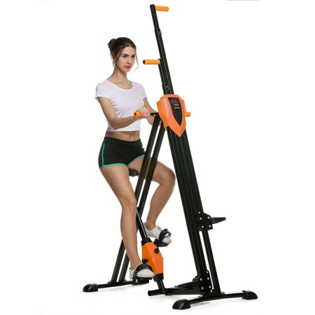 Foldable Vertical Climber Machine Exercise Stepper Cardio Full Body Workout Equipment Fitness Gym
