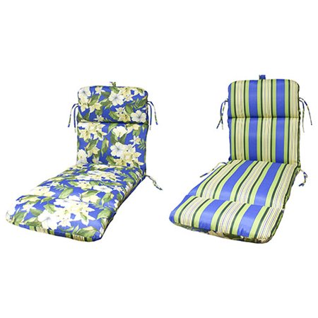 Blue And White Striped Chaise Lounge Cushions Of Sumatra Stripe Reversible Chaise Lounge Cushion