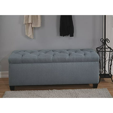The Sole Secret Bay Blue Diamond Tufted Shoe Storage Bench,