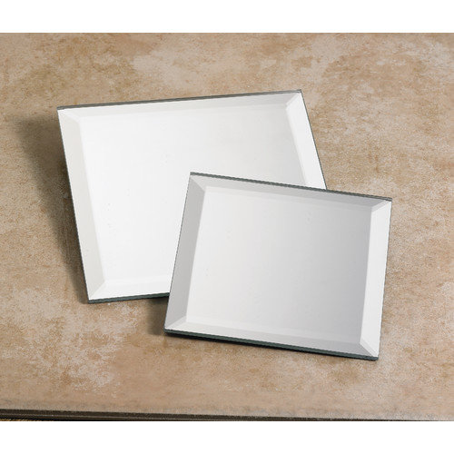 Biedermann and Sons Square Mirror Plate (Set of 2) (Set of 2)