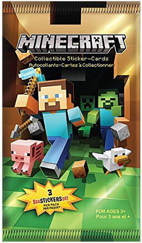 Minecraft Minecraft Trading Card Stickers Pack Walmartcom
