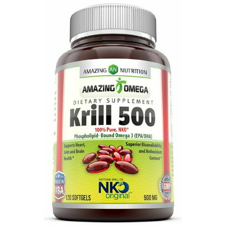 Amazing Omega NKO Neptune Krill Oil 500mg 120 (Best Krill Oil Brand)