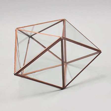Vasesource Geometric Glass Terrarium Walmart