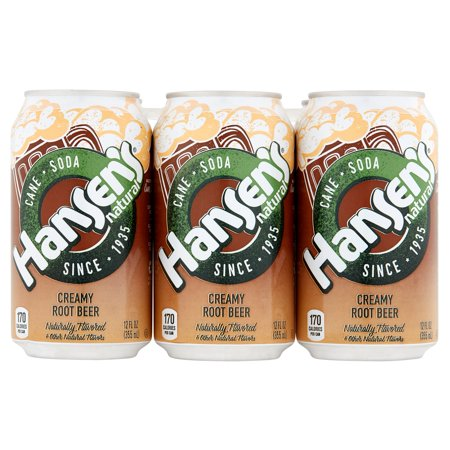 Hansen Soda Crmy Root Beer,72 Oz (Pack Of 4)