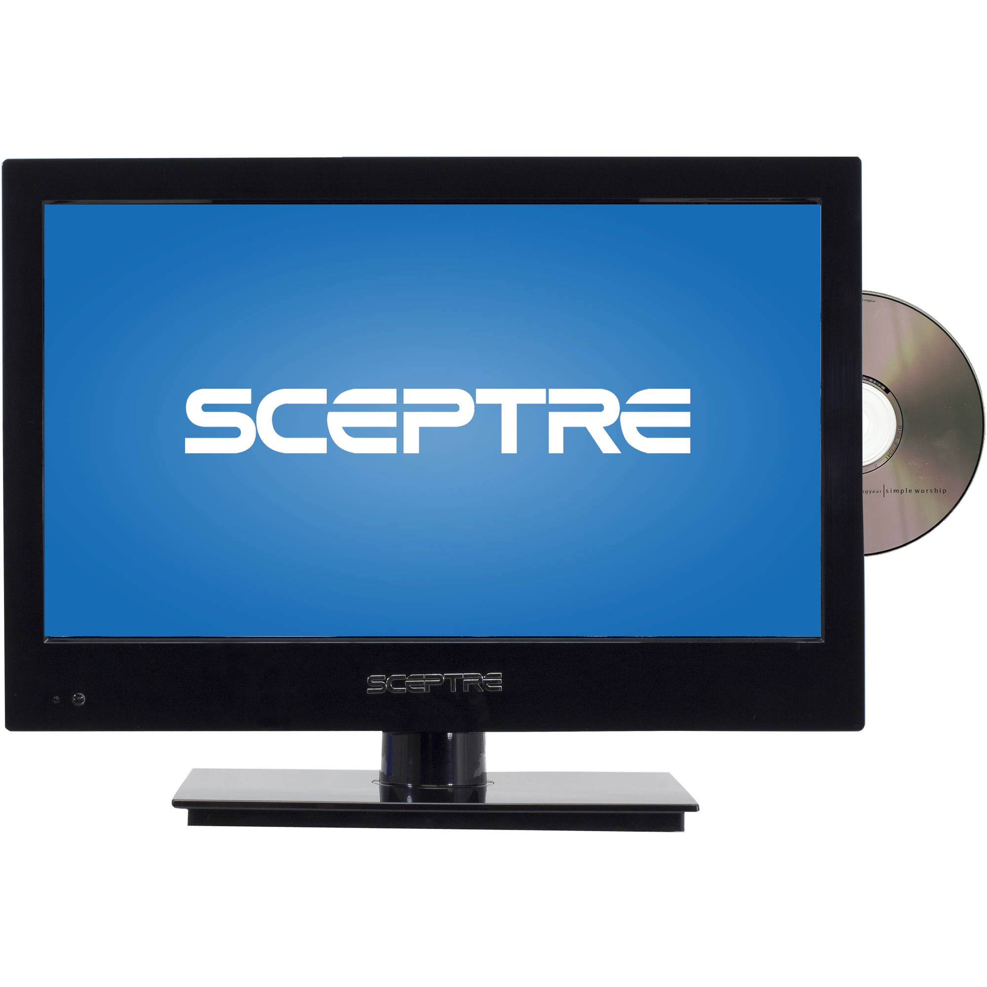 "Sceptre 16"" Class LED 720p 60Hz HDTV with Built-In DVD Player, E165BD-M"