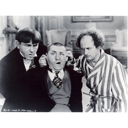 Laminated Poster The Three Stooges Larry Moe Curly Hollywood S Poster Print 24 x 36 ()