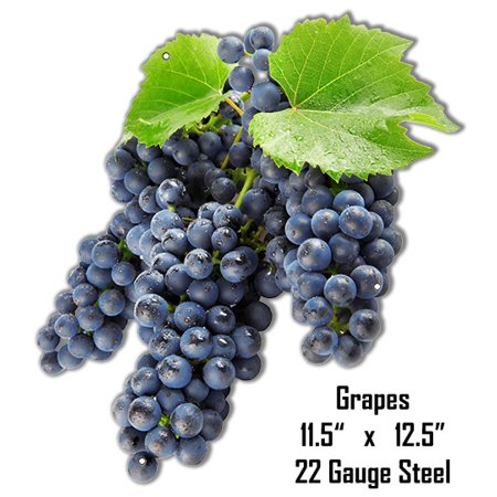 Grapes Wall Art Laser Cut Out Metal Sign 11.5
