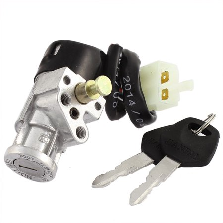 Electric Start Key Switch (Motorbike Electric Bike Scooter Four Wires Ignition Switch Lock w Keys for DY100)