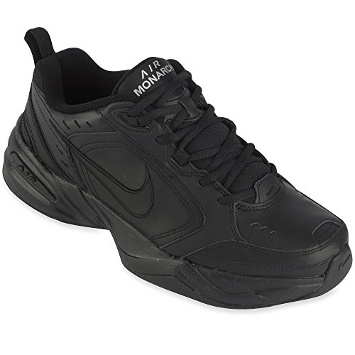 Nike Men's Air Monarch IV (4E) Training Shoe (Black / Black,), 15 M US Men's