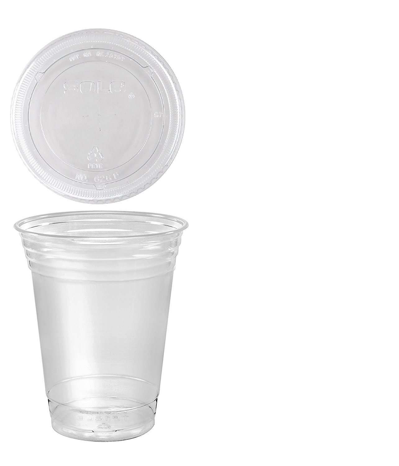 A World Of Deals 100 Sets 16 oz. Plastic CLEAR Cups with Flat Lids for Iced Coffee Bubble Boba Tea Smoothie by A World of Deals