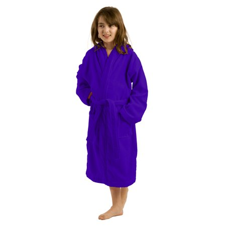b58482c518 Terry Cotton kids Hooded spa robes for boys navy