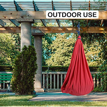 Indoor Therapy Swing for Kids with Special Needs (Hardware Included) Snuggle Swing   Cuddle Hammock for Children with Autism, ADHD, Aspergers   Great for Sensory Integration - image 5 de 6