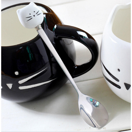 Stainless Steel Cartoon Animal Coffee Spoons Mixing Spoons Cold Drink Fruit Ice Cream Dessert Tea Spoon Drinking - Spoon Animals