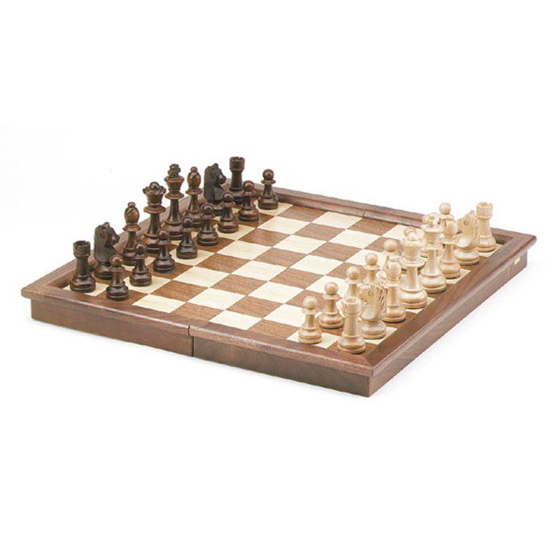 Folding Walnut Frame Chess Set by CHH