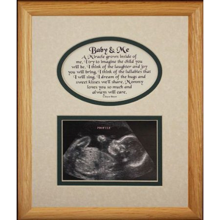 8X10 Baby & Me Picture & Poetry Photo Gift Frame ~ Cream/Hunter Green Mat ~ Heartfelt Keepsake Gift Idea For Expecting Parents Ultrasound/Sonogram Image (Costume Ideas For Baby And Parents)