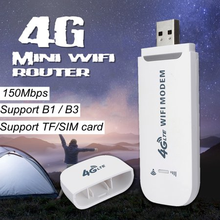 Portable Router 4G LTE WIFI Wireless Router USB Dongle Stick Mobile Broadband Hotspot SIM Card (Best Mobile Broadband Dongle)