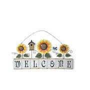 Attraction Design Home Garden Sunflower Welcome Sign Wall D cor