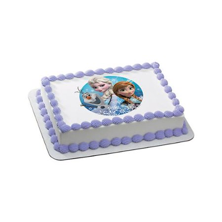 Edible Cake Pictures Frozen : Disney Frozen Quarter Sheet Edible Cake Topper (Each ...