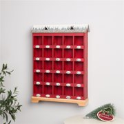 "Glitzhome 25""H Countdown to Christmas Wood and Metal Advent Calendar Décor"
