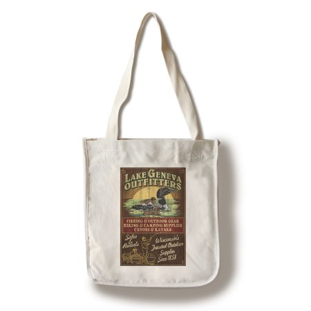 Lake Geneva, Wisconsin - Loon Outfitters - Lantern Press Poster (100% Cotton Tote Bag - Reusable)