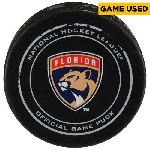 Florida Panthers Game-Used Puck