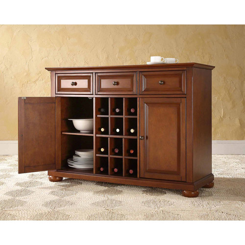 Crosley Furniture Alexandra Buffet Server and Sideboard Cabinet with Wine Storage by Generic