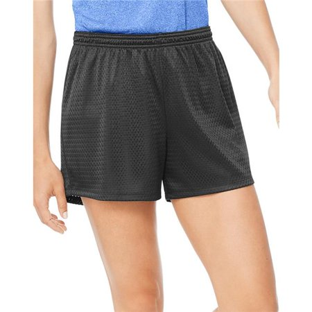 Large Sport Womens Mesh Shorts, Ebony - image 1 of 1