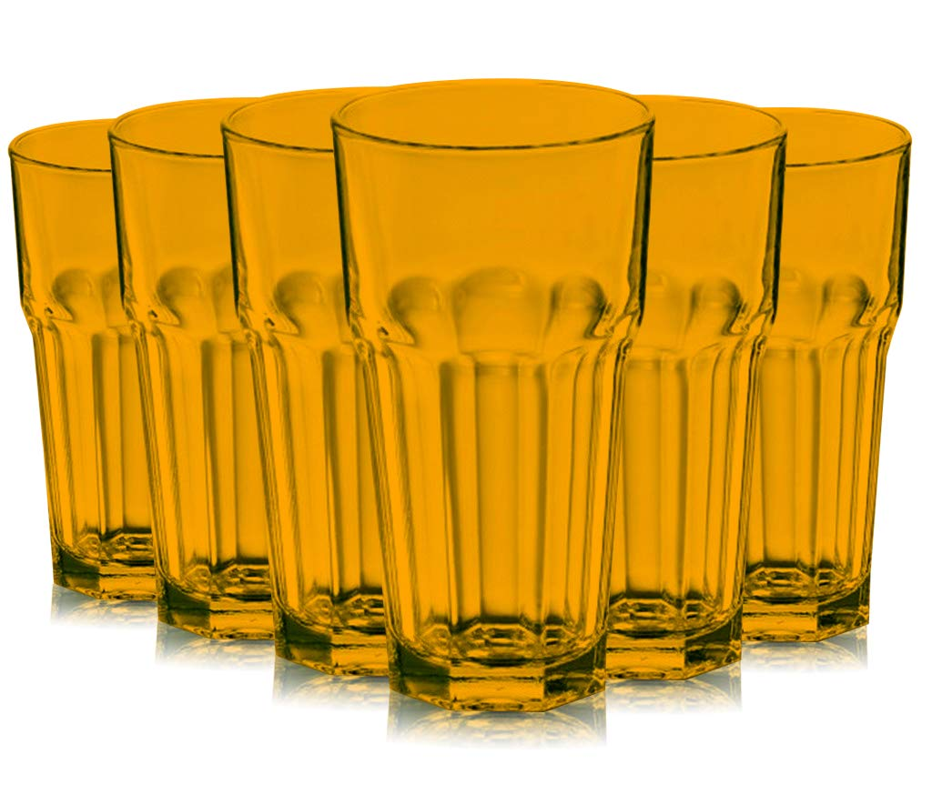 Colorful Libbey Gibraltar Full Accent 16 oz Cooler Glasses Available in Set of 6