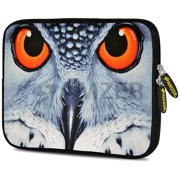Designer 7.75 Inch Soft Neoprene Sleeve Case Pouch for Alcatel ONETOUCH POP 7 LTE, Acer Iconia One 7, LG G Pad, Amazon Fire 7, Kindle/ Kindle HD 7, RCA 7 Tablet - Focus Owl Close