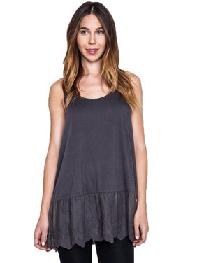 42889f2cb12514 Product Image Umgee Women s Ash Lace Trimmed Tank Top