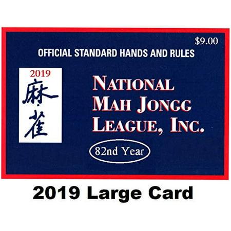 National Mah Jongg League 2019 Large Size Card - Mah Jongg Card - image 1 of 1