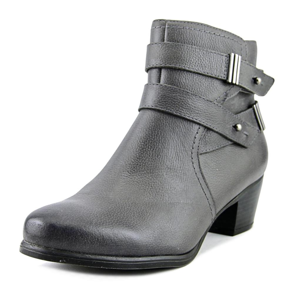 Naturalizer Kepler Women Round Toe Leather Gray Bootie by Naturalizer