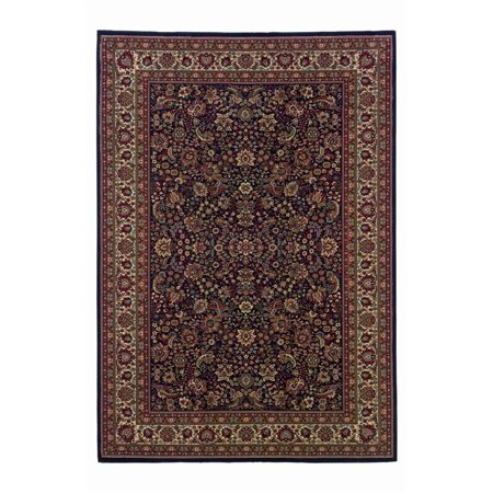Sphinx Ariana Area Rugs 113b2 Traditional Oriental Blue Persian Border Flowers Leaves Rug
