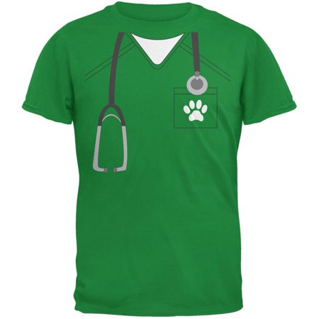 Halloween Vet Veterinarian Scrubs Costume Irish Green Youth - Vet Costumes