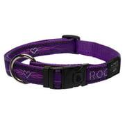 Rogz HB02-BJ Dogz Fancydress Side Release Collar Armed Response - Extra Large, Purple Chrome