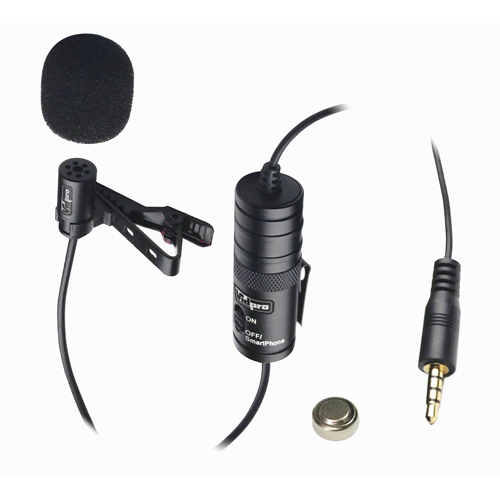 Canon VIXIA HF R700 Camcorder External Microphone Vidpro XM-L Wired Lavalier microphone - 20' Audio Cable - Transducer type: Electret Condenser