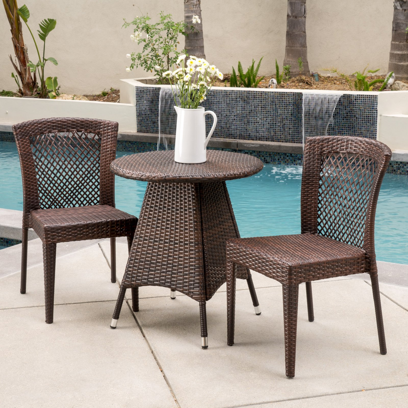James Wicker 3 Piece Round Bistro Set