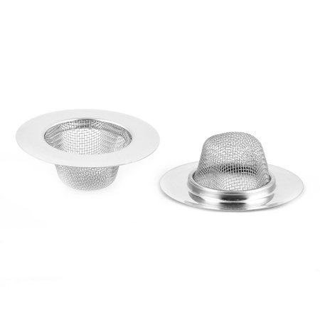 Home Stainless Steel Round Basin Sink Drain Mesh Scraps Stopper Strainer 4pcs - image 2 of 4