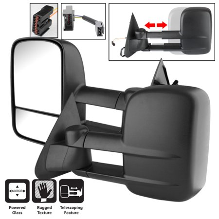 Xtune Ford F150/250 97-03 L&R Manual Extendable Power Adjust Mirror MIR-FF15097-PW-SET