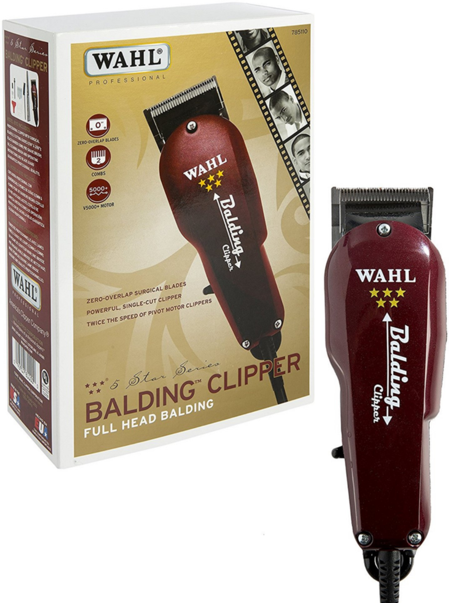 Wahl Professional 5 Star Balding Clipper 8110 1 Ea Classic Series Usa