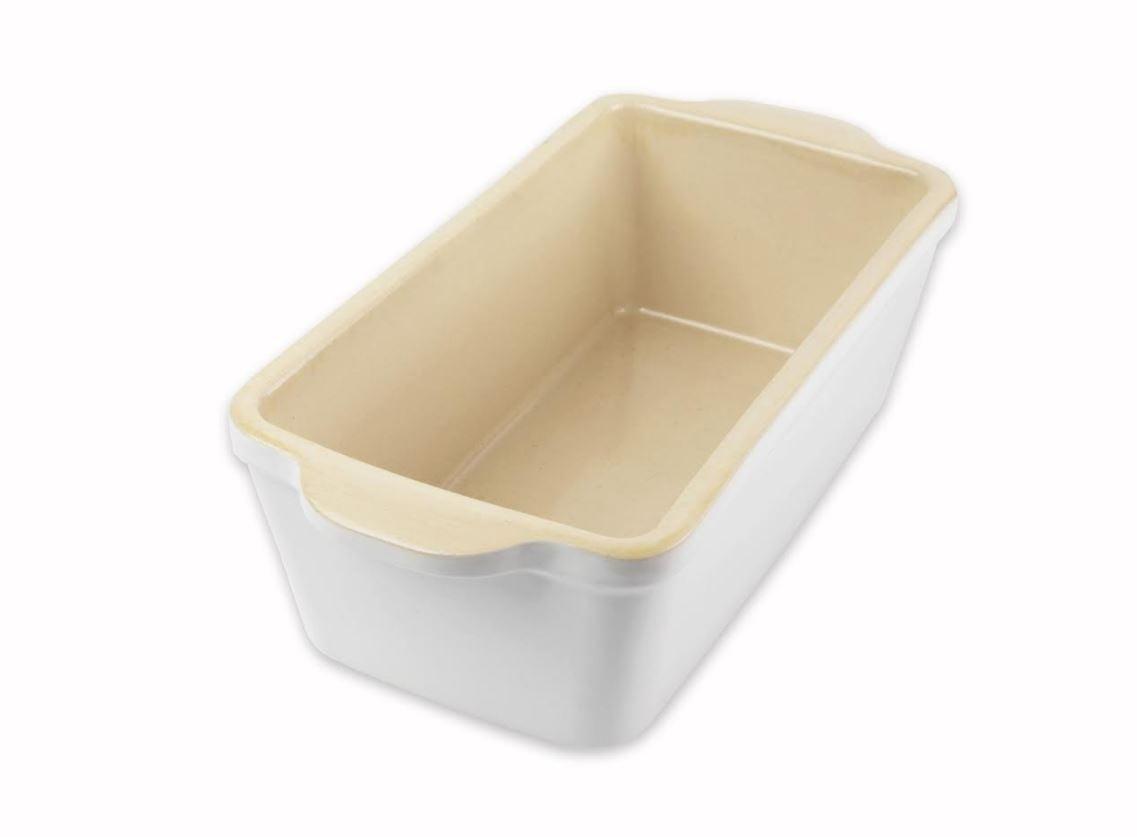 Usa Pan Stoneware Loaf Pan White Walmart Com