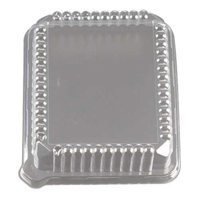 PET Dome Lid for 10 X 8 Rectangular Trays/Set of 50
