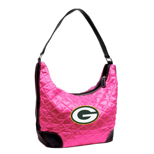 NFL - Green Bay Packers Pink Quilted Hobo Purse