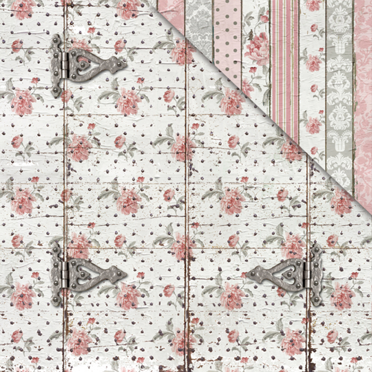 "Shabby Rose Double-Sided Cardstock 12""X12""-Rose Door"
