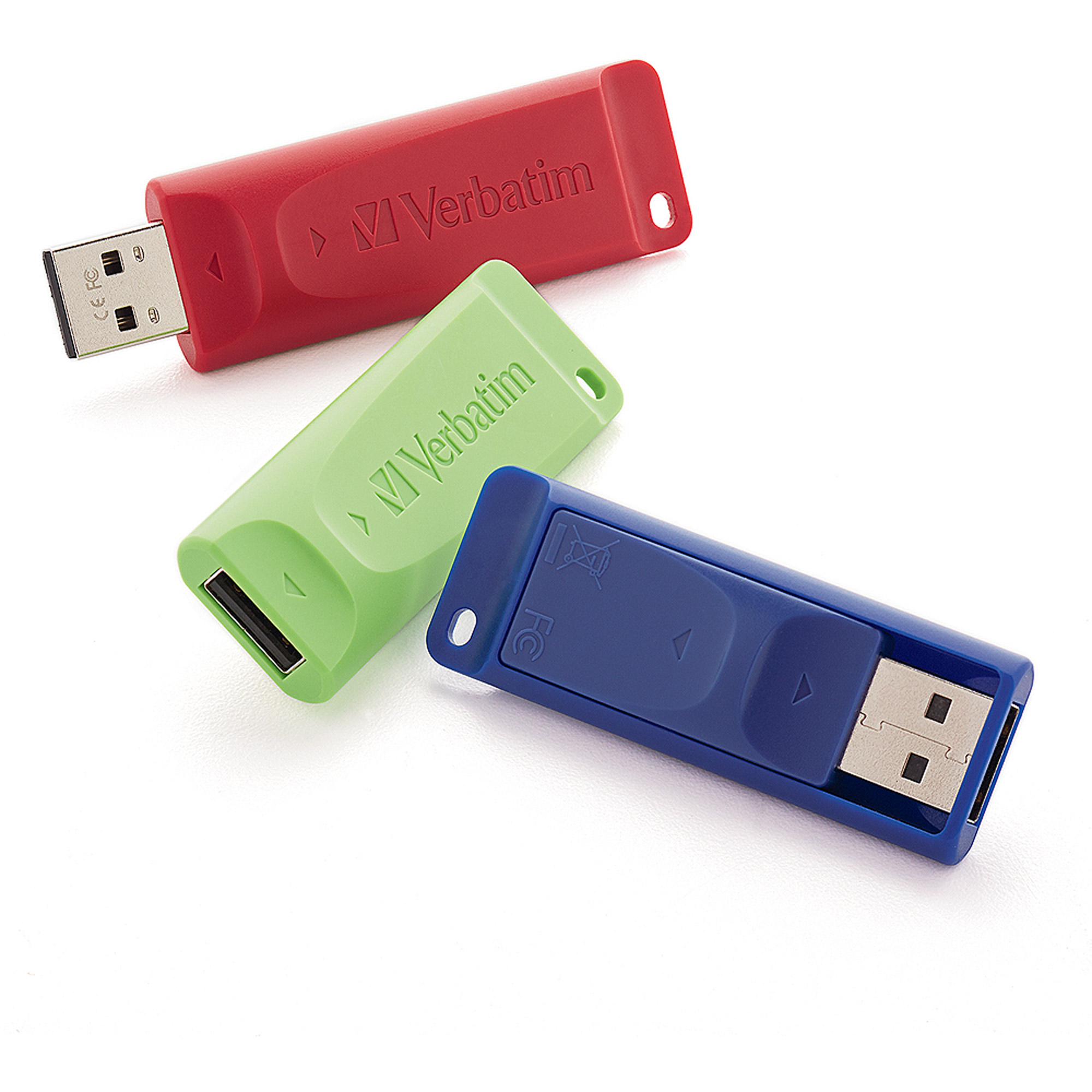 Verbatim Store 'n' Go 4GB USB Flash Drive, 3pk