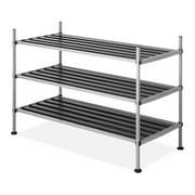 """Whitmor 3 Tier Closet Storage Shelves - Shoe Rack and Home Organizer - 12"""" x 25.625"""" x 17"""""""