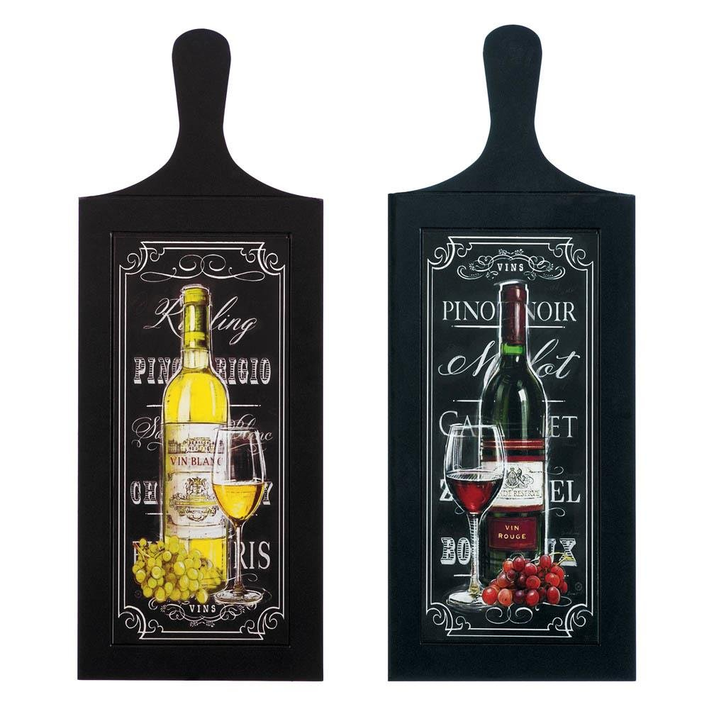 Art Wall Mount, Wine Bottle Duo Wood Rustic Bedroom Home Wall Art Decor