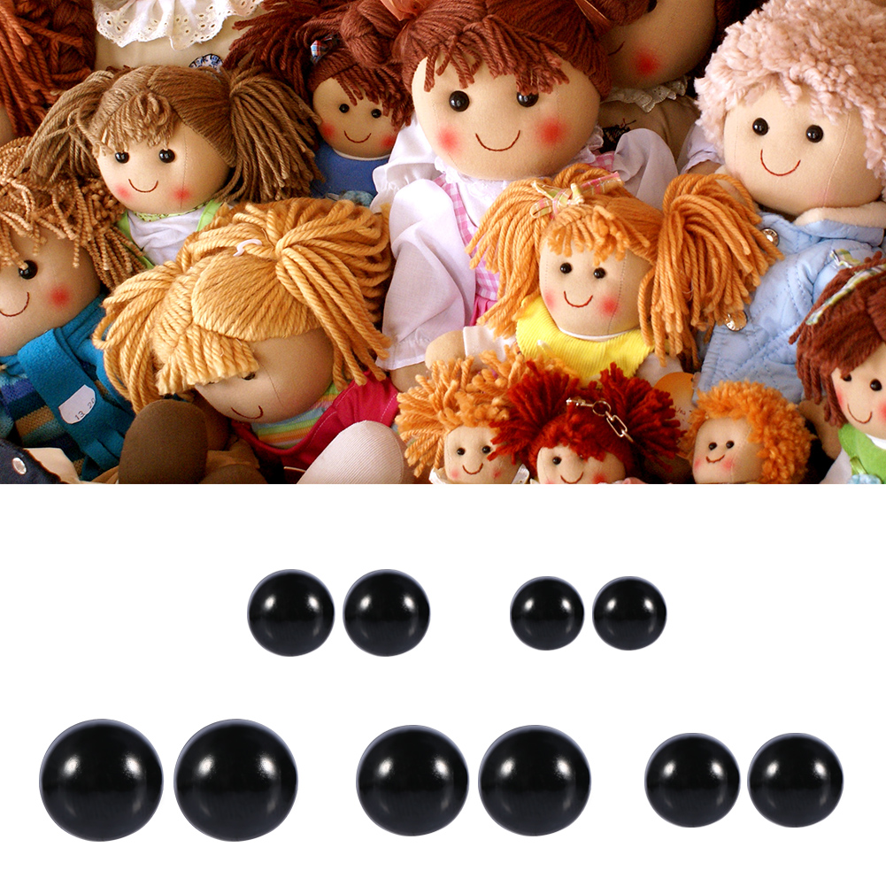 Animal Toy,100pcs 6-12mm Color Plastic Safety Eyes For Teddy Bear Doll Plush Animal Toy by