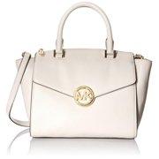 Michael Kors Hudson Vanilla Large Satchel Leather Handbag