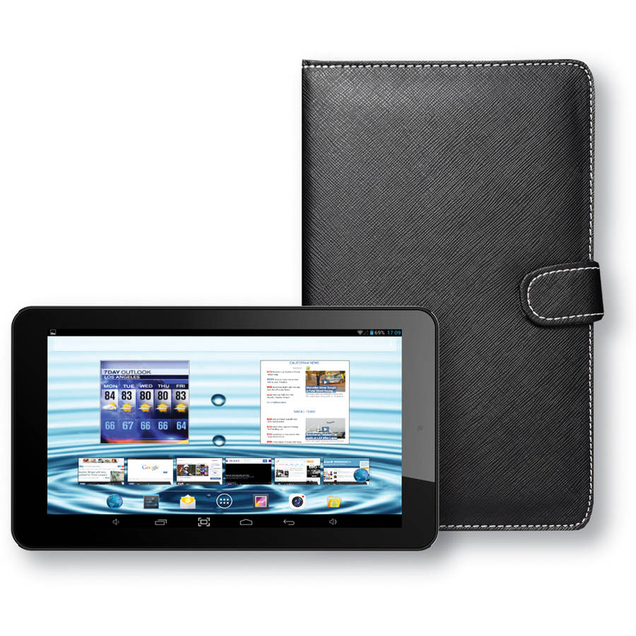 """SuperSonic SC-5777 with WiFi 7"""" Touchscreen Tablet PC Featuring Android 4.4 (KitKat) Operating System and Keyboard Case"""